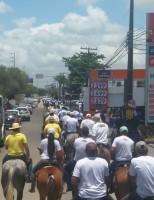 Vaqueiros de todo o Brasil protestam contra ameaça à pratica da vaquejada