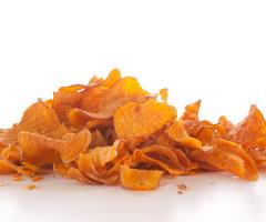A tradicional batata doce pode ser produzida para fabricação de chips