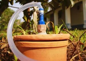 Potes de barros - irrigação
