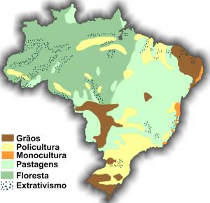 mapa produção agrícola