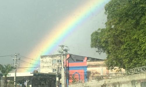 As cores do Recife no céu