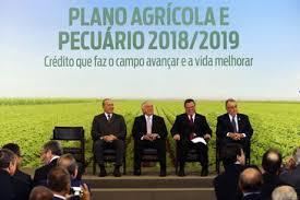 plano agrícola 2018 - lançamento