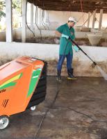 As granjas de suínos podem economizar água com equipamentos adequados para lavagem das baias
