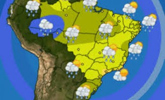 Previsão de chuva para várias regiões do Brasil