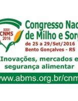 Congresso Nacional de Milho e Sorgo destacará Tecnologias que ajudam a enfrentar os períodos de seca