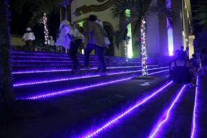 Luzes Gravaté - escadaria 2