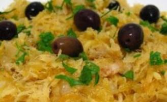 Receita – Bacalhau com batatas