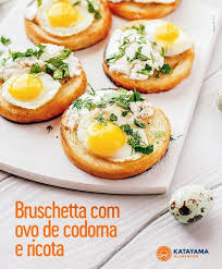 brusqueta com ovo de codorna