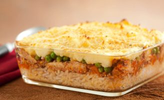 Receita – Escondidinho de arroz, macaxeira e sardinha