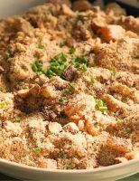 Receita – Farofa de Amêndoas, Damasco e manteiga Ghee de Alho Negro