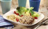 Receita – Hambúrguer de atum empanado em sementes